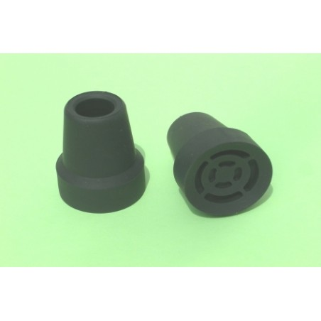 Contera Baston Plastico Negra 17 Mm.13517