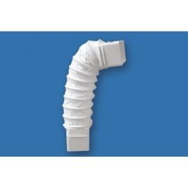 Codo Extraccion/Aire Rectangular FlexiBlancoe 55X110Mm Ignifugo/Autoextinguible Blanco Ccf500