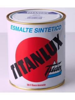 Esmalte Sintetico  Brillante  4 Lt Negro  Interior/Exterior  Titan Titanlux