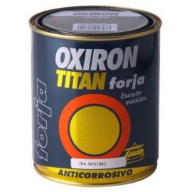 Esmalte Antioxidante Forja 4 Lt Negro  Exterior Oxiron Titan