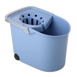 Cubo Agua Con Escurridor Tatay Azul Con Ruedas 10320