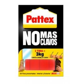 Cinta Adhesiva Doble Cara  Precortada Espuma Rojo No Mas Clavos Patte