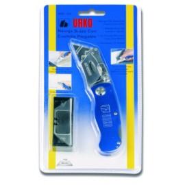 Cutter Profesional  Navaja Con 10 Hojas Aluminio Azul Suiza Urko