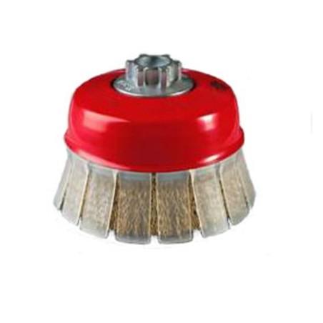 Cepillo Industrial Taza Amoladora 100 Mm / 0,3 Mm Acero/Latonado Jaz