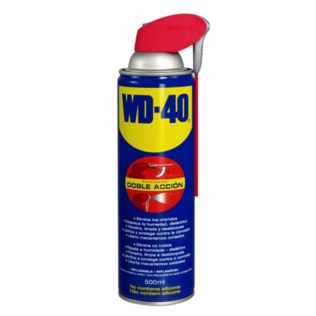 Aceite Lubricante Multiusos Doble Accion Spray Wd-40 500 Ml