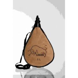 Bota Vino Recta 1,0Lt Cuero-Serraje Pocket Laken
