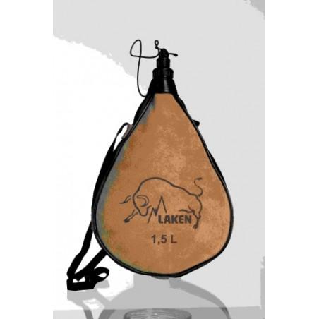 Bota Vino Recta 1,5Lt Cuero-Serraje Pocket Laken