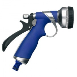 Pistola Riego  8 Funciones Tatay Metal Plus Gatillo Trasero Toma Automatica