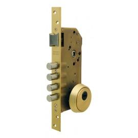 Cerradura Seguridad Madera Embutir 60Mm R200B666L Laton 1Punto Tesa
