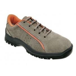 Zapato Seguridad T46 S1P Pu-Pu Puntera Plastico Metal Zion Snuman Piel Gr Pante