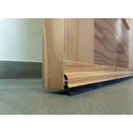 Burlete Bajo Puerta 105Cm Adhesivo Labio Aluminio Roble Burcasa