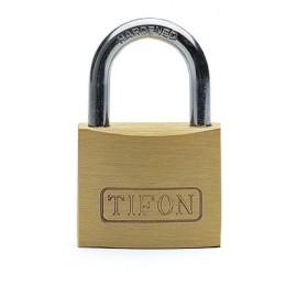Candado Seguridad  50Mm Arco Corto Llaves Iguales 502 Tifon Laton Ifam