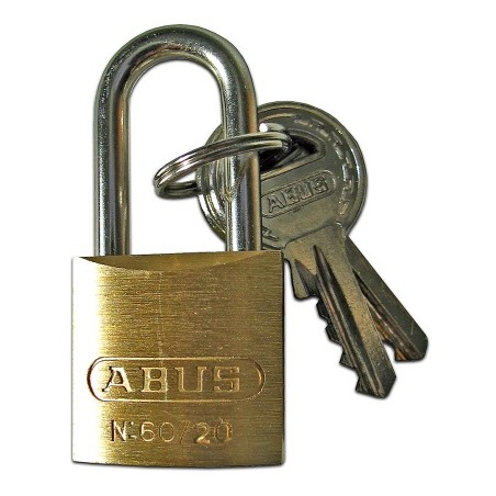 Candado Seguridad  25Mm Arco Largo Laton  Abus