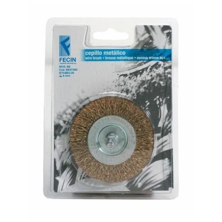 Cepillo Industrial Circular Taladro 100X0,3 Mm Acero/Latonado Fecin