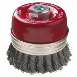 Cepillo Industrial Taza Amoladora 100 Mm / 0,8 Mm Alambre Trenzado Fecin