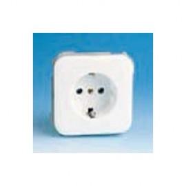 Base Enchufe Electricidad Schuko Toma tierra Blanco Nieve Serie 31 31432-60 Simon