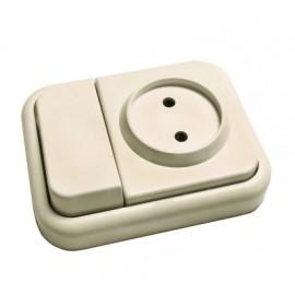Conmutador Electricidad  Interruptor Superficie Blanco 20318012 Bf