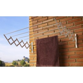 Tendedero Pared 5 Barras 080Cm Ext Ac.Ep. Bl Acordeon Cuncial