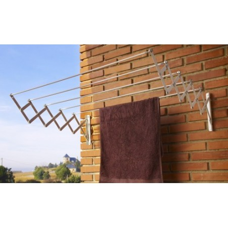 Tendedero Pared 5 Barras 120Cm Ext Ac.Ep. Bl Acordeon Cuncial