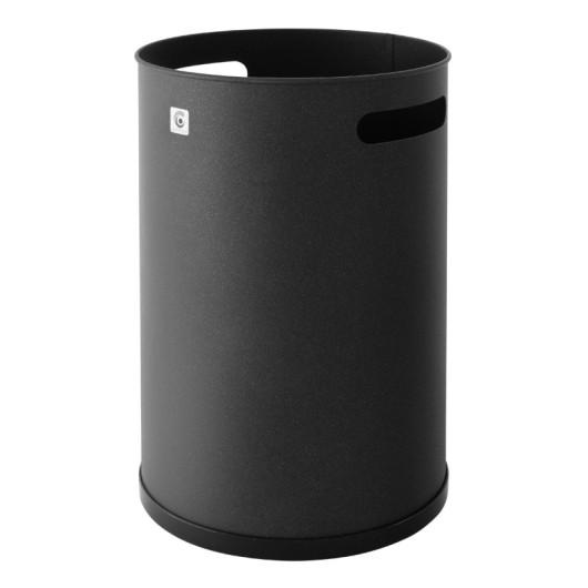 Papelera Residuos 32X21Cm Metal Negro Cilindro