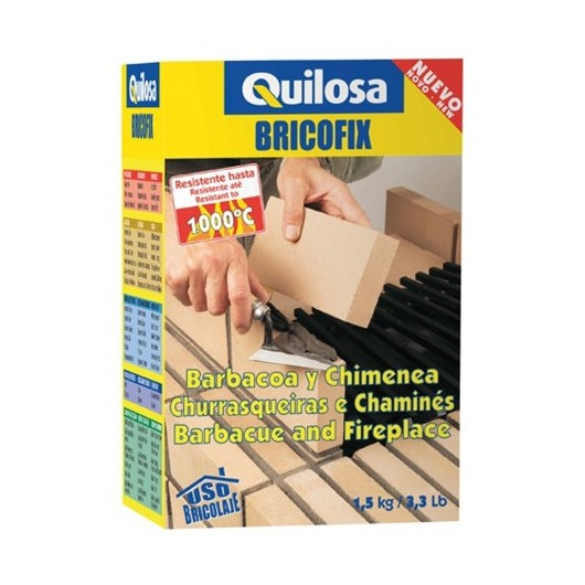 Mortero Restauracion Refractario 1,5 Kg Barbacoa Bricofix Quilosa