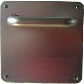 Manivela Puerta Uc4W Inox 304 Inox Placa Cuadrada