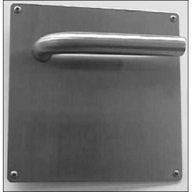 Manivela Puerta Lc4W Inox 304 Inox Placa Cuadrada