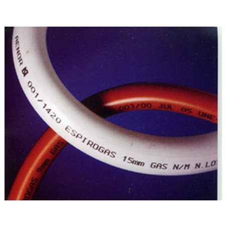 Tubo Conductor Gas N. 15X22Mm Flexible Bl Espirogas Espirof 1,5 Mt