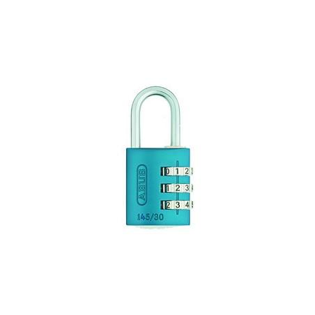 Candado Seguridad  30Mm Combinacion Programable Azul Abus