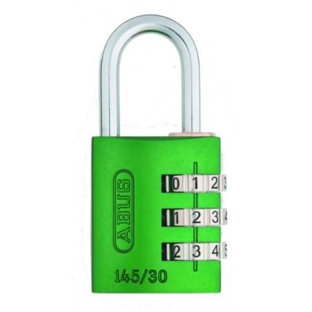 Candado Seguridad  30Mm Combinacion Programable Verde Abus