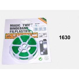 Alambre Plast.Plano Verde Rollo 20M+Cortador 1630  Busor