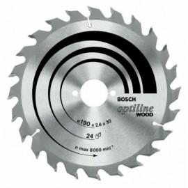 Disco Corte Madera  24 Dientes 160X2,6X16 Mm Widia Bosch