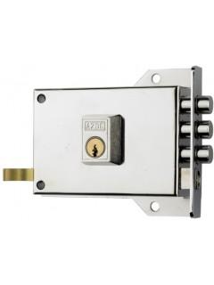 Cerradura Sobreponer 120X60Mm 7Dhn Hierro Niquelado Picaporte/Palanca Derecha Yale