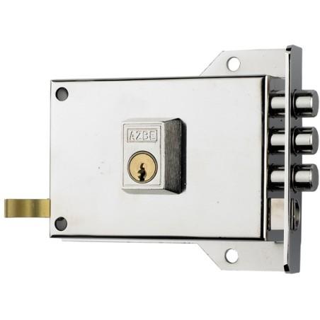 Cerradura Sobreponer 120X60Mm 7Ihn Hierro Niquelado Picaporte/Palanca Izquierda Yale