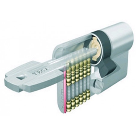 Cilindro Seguridad  30X50Mm T6553050N Niquel Leva larga Tesa