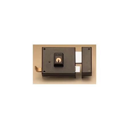 Cerradura Sobreponer 120X60Mm 125120Dhp Hierro Pintado Picaporte/Palanca Derecha Yale