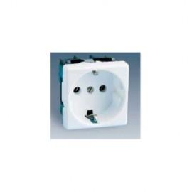 Base Enchufe Electricidad Schuko Toma tierra Blanco Nieve Serie 27 27432-65 Simon