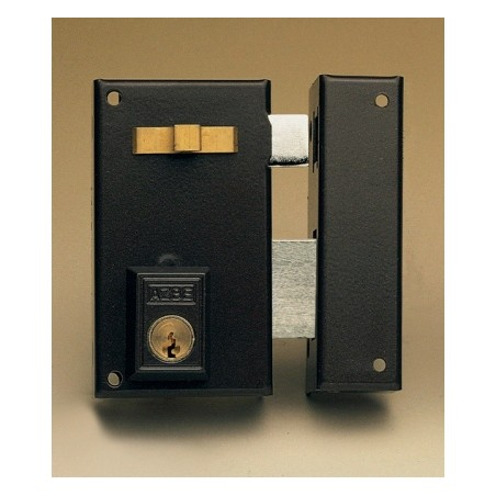 Cerradura Sobreponer 60X35Mm 56A60Ihp Hierro Pintado Picaporte/Palanca Izquierda Yale