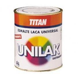 Esmalte Laca Satinado  750 Ml Ocre Agua Unilak Titan