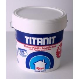 Pintura Plastica Mate 10 Lt Blanco Interior Titanit Titan