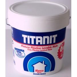 Pintura Plastica Mate 4 Lt Blanco Interior Titanit Titan