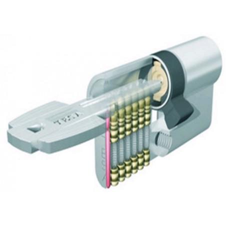 Cilindro Seguridad  40X40Mm M6504040N Niquel Leva corta Tesa
