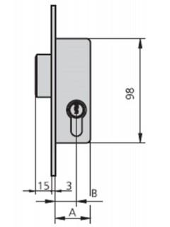 Cerradura Metalica Embutir 25X20Mm 1983A20/0 Niquel Palanca Cvl