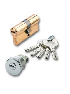 Cilindro Seguridad  30X40Mm Ds-10-70 Laton Leva Larga Ezcurra