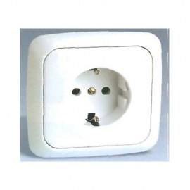 Base Enchufe Electricidad Schuko Toma tierra Marfil Serie 31 31472-61 Simon