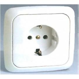 Base Enchufe Electricidad Schuko Toma tierra Blanco Serie 31 31472-60 Simon