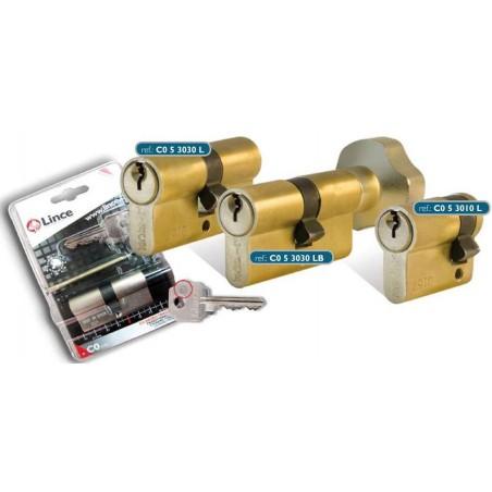 Cilindro 30X10Mm C053010N Niquel  Leva Larga Abrepuertas Electrico Lince