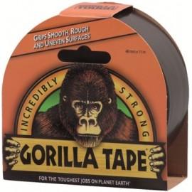 Cinta Adhesiva 48Mmx 11Mt Americana Tric Doble/Grosor Negro Gorila Gorilla