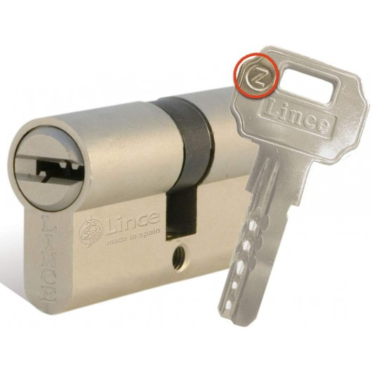 Cilindro Seguridad  32X32Mm C233232N Niquel Leva corta Lince