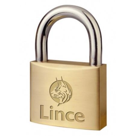 Candado Seguridad  25Mm Arco Corto Laton Lince